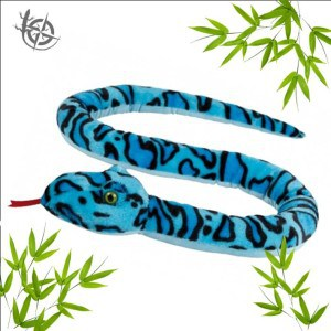 Snake soft toy 150cm blue
