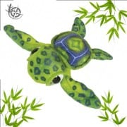 Turtle soft toy 60cm green