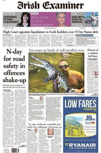 Irish Examiner front page 2014