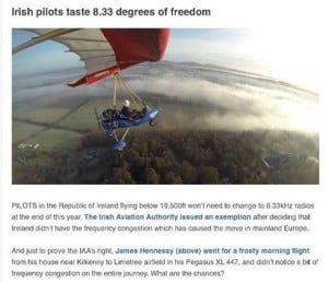 james flying article